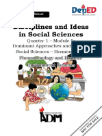 disciplines and iseas on scoial sciences 1st quarter module 9
