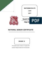 SPen Mathematics June P2 2017