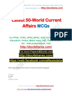 Latest 50-World Current Affairs MCQs