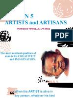 Lesson 5- Artist and Artisans.pptx