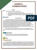Lesson 4 Utilitarian Ethics