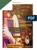 Livro a Esposa Do Pastor No Ministério