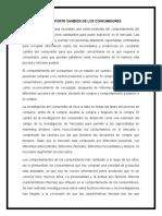 REPORTE CAMBIOS DE LOS CONSUMIDORES