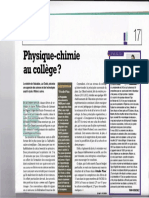 LDA mars 2011 physique chimie college