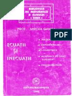 Ecuatii si inecuatii - M. Ganga (1998)