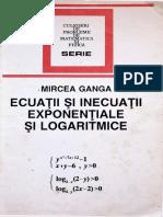 Ecuatii expon si logaritmice - M. Ganga (1994)
