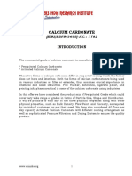PROJECT REPORT ON CALCIUM CARBONATE