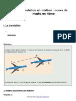 Leçon 5 translation-et-rotation-cours-de-maths-en-4eme