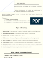 Inventory Frauds