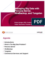 Managing Big Data with Percona Server, XtraBackup, and Tungsten
