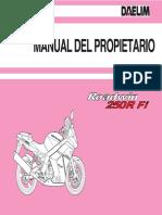 Manual Propietario Daerlim Roadwin vjf  250 r