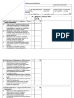 Vancouver Coastal Inspection Priority Worksheet