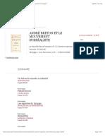 André Breton et le mouvement surréaliste - La Nouvelle Revue Française