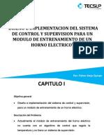 Sistema de un horno eléctrico vertical
