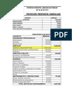 Copia de Presupuesto Vigencia 2020