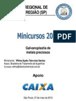 MINICURSO GALVANOPLASTIA