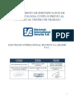 P-4103 Identificacion de Sintomatologia COVID-19 previo al ingreso al centro de trabajo