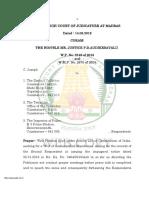 High court of Madras Judgement 2019