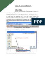 Pasos para pasar de Excel a Marc21