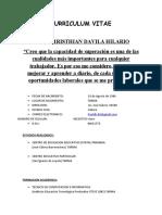 CV PAUL DAVILA HILARIO