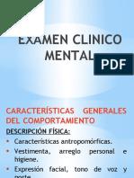 EXAMEN CLINICO MENTAL