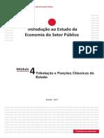 Módulo 4 - Tributação e Funções Clássicas do Estado (final)