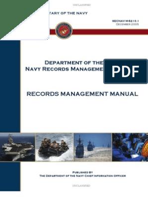 SECNAV M-5210_1   Records Management   United States Secretary Of