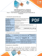 Guía de actividades y rúbrica de evaluación - Paso 3 - Usar Sistemas de Información para el desarrollo de Proyectos