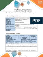 Guía de actividades y rúbrica de evaluación - Paso 4 - Gestionar Información para el desarrollo de Proyectos.pdf