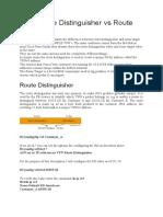 BGP Route Distinguisher vs Route Target