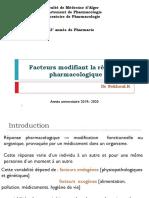1- Facteurs de variabilité pharmacocinétique