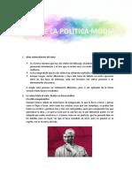 ORIGEN DE LA POLITICA MODERNA