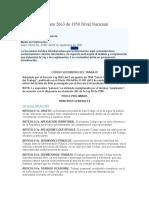 CODIGO SUSTANTIVO DE TRABAJO - Decreto 2663 de 1950 Nivel Nacional