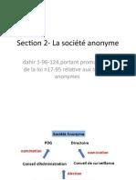 cours Section 2- La société anonyme.pptx