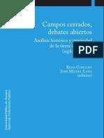 Rosa Congost, Jose miguel lana (editores) Campos cerrados, debates abiertos analisis histórico y propiedad de la tierra en Europa (siglos XVI-XIX) Universidad de Navarra