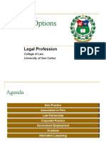 Legal Prof - Career Options