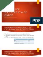 PERDIDAS DE TRANSFERENCIA DE CALOR