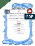 ANALIZIS DEL CONTENIDO DEL CONTENIDO DEL INFORME DE MECANICA DE SUELOS FINAL CORREGIDO