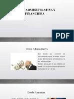DEUDA ADMINISTRATIVA Y DEUDA FINANCIERA
