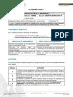 Guía de Unidad 1 Electiva IV