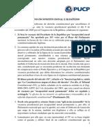 Pronunciamiento ADC Derecho PUCP