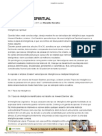 Inteligência espiritual Pastor Ronaldo