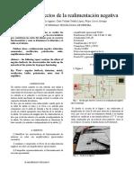Informe practica 4; Efectos de la realimentacion negativa