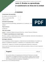 Examen_ [AAB01] Cuestionario 2_ Evalúe Su Aprendizaje, Participando en El Cuestionarioen Línea de La Unidad 2
