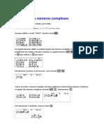 Cálculos Com Números Complexos