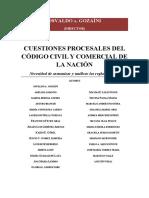 Gozaíni - Cuestiones Procesales Del CCyC