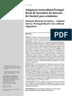 Adaptação Transcultural Portugal-Brasil do MBI para estudantes
