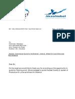 AkzoNobel India Ltd ( Dulux Paint ) - Commercial Offer ( Juhu Abhishek BCD Chsl - 27.10.2020 )