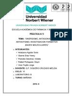 ANTIDOTISMO - farmacologia PRACTICA 3
