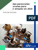 Habilidades profesionales para empleo 2021